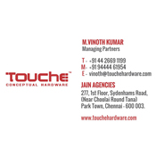 Business Card Designs - TOUCHE Conceptual Hardware, Park Town, Chennai
