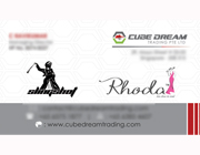 Business Card Designs - Cube Dream Trading Private Limited, Singapore