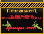 Brochure - Game On - Caution Board. Design