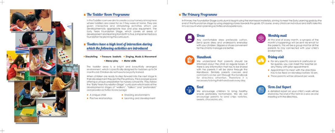 Brochure - Inner Page, Chaithra Montessori School, Madipakkam, Chennai