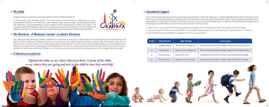 Chaithra Montessori School, Madipakkam, Chennai - Brochure Inner Page