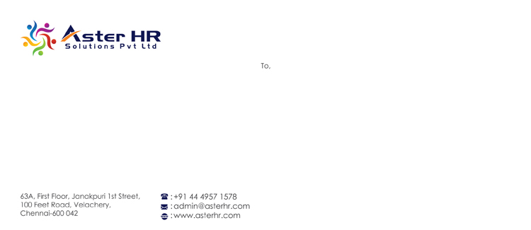 Letter Cover - Aster HR Solutions Pvt Ltd