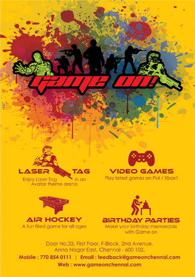 Brochure, Game On, Chennai