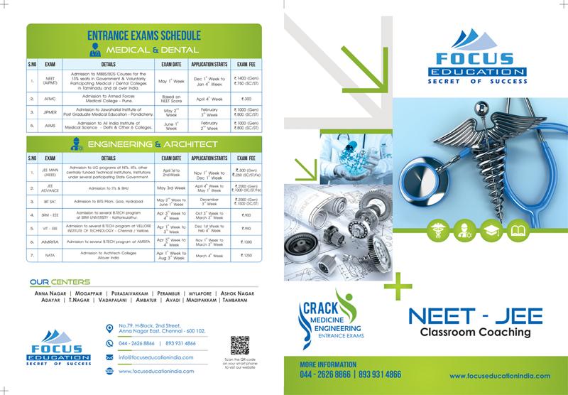 Bi Folder Brochure - Focus Education, Chennai