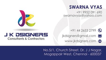Branding Business Card - J K D'signers, Chennai