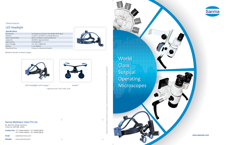 Brochure - Sanma Medineers Vision Pvt Ltd, Korattur, Chennai