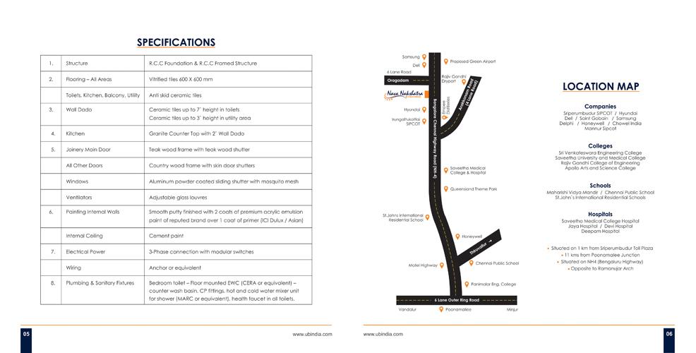 Brochure Design - United Builder, Chennai