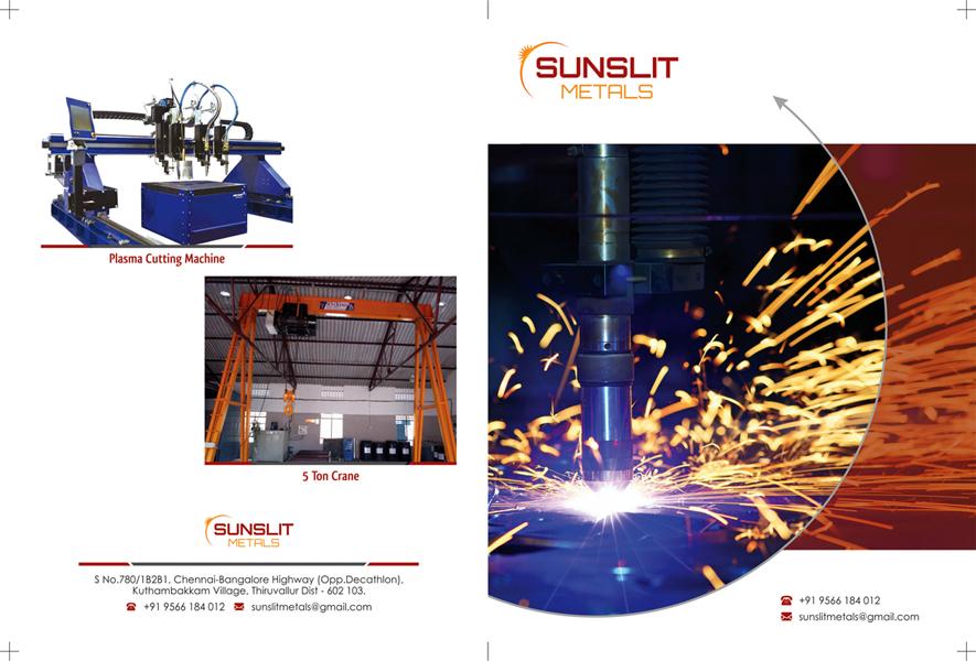 Brochure Designs - Sunslit Metals, Thiruvallur Dist.