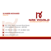 Business Card Designs - NRK World Marine Export Private Limited, Chintadripet, Chennai