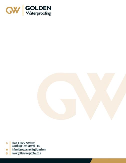 Brand Letter Head Designing Services - Golden Waterproofing, Shenoy Nagar, Chennai