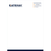 Letter Head Designs - Gateway Construction and Engineering Private Limited, Singapore