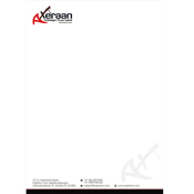 Letter Head Designs - Axeraan Technologies Private Limited, Chennnai