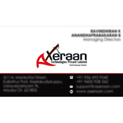 Business Card Designs - Axeraan Technologies Private Limited, Chennnai