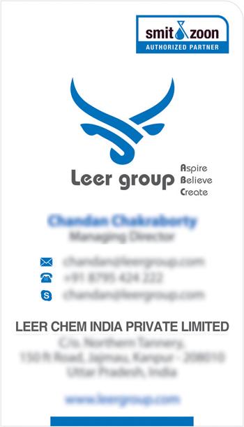 Branding Designs, Business Card - Leer Chem India Private Limited, Uttra Pradesh, India