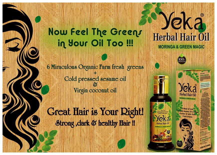 Brochure Designing Service - Yeka Herbal Hair Oil, Anna Nagar, Chennai