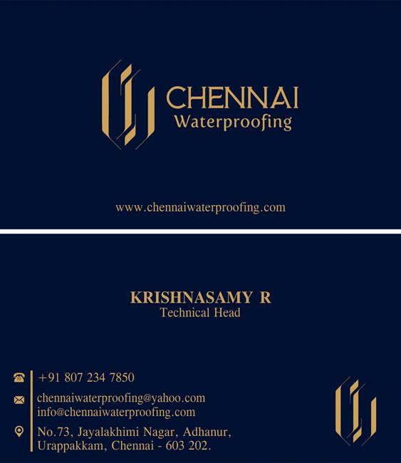 Branding Services, Business Card - Chennai Waterproofing, Urappakkam, Chennai