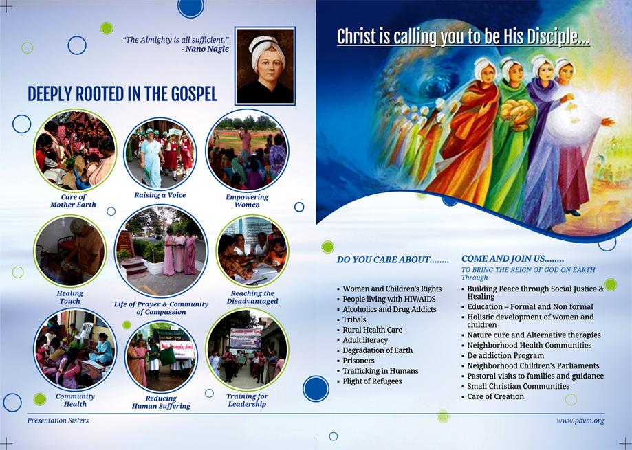 Brochure Designing Service - Presentation Sisters, Church Park, Chennai