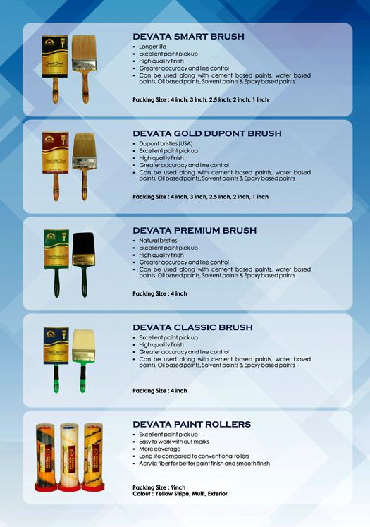 Product Catalogue - Devata Associates, J.J Nagar, Chennai