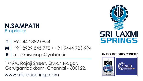 Brand Business Card - Sri Laxmi Springs, Gerugambakkam, Chennai