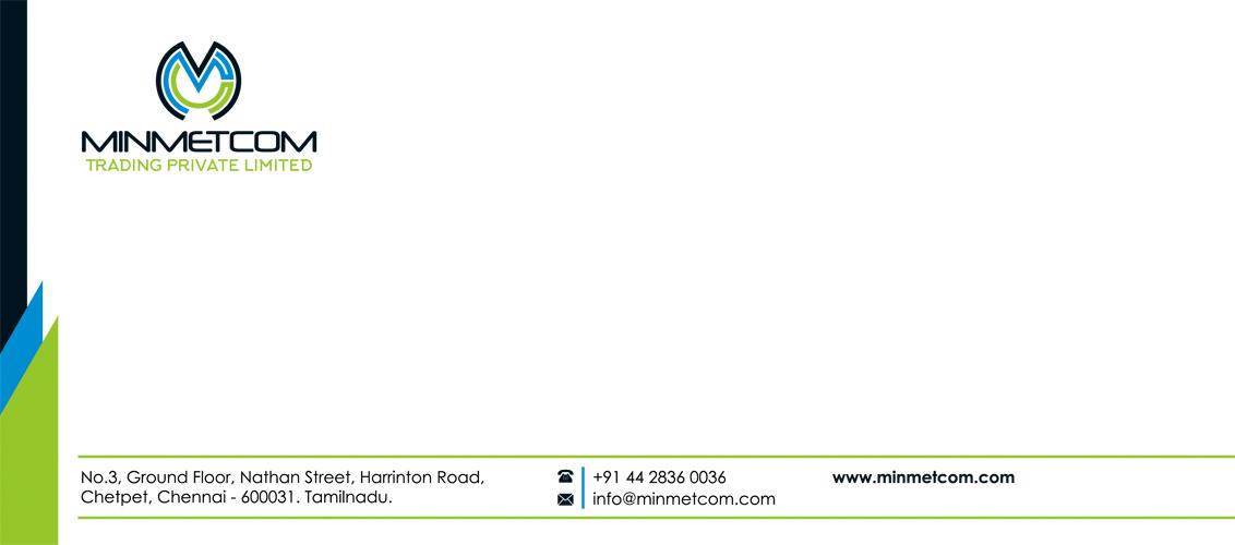 Letter Cover | Branding Designing Services - Minmetcom Trading Pvt Ltd, Chetpet, Chennai.