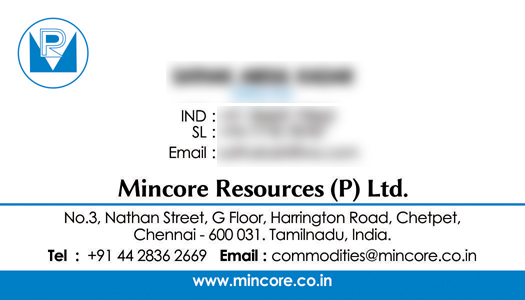 Branding Logo Designing Services - Business Card, Mincore Resources Private Limited, Chetpet, Chennai