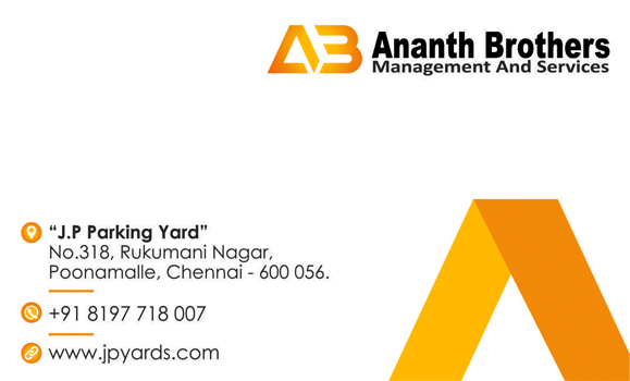 Branding Logo Designing Services - Business card, Ananth Brothers Management and Services, Poonamalle, Chennai