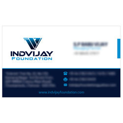 Business Card Designs - Induvijay Foundation, Choolaimedu, Chennai