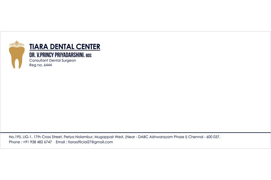 Logo Designing Services, Office Cover - Tiara Dental Center, Mogappair West, Chennai