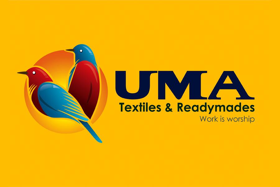 Brand Logo Design - UMA Textiles & Readymades, Vembakkam Taluk, Tiruvannamalai.