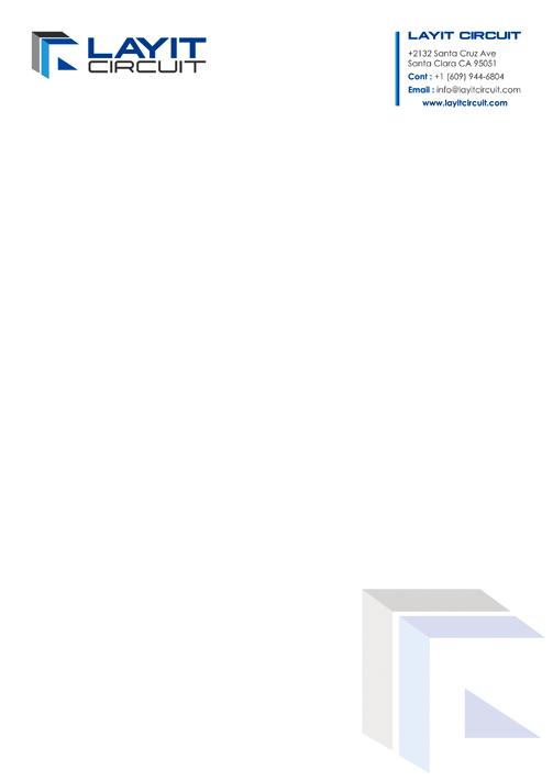 Brand Logo designing services. Letter Head design - Layit Circuit, Santa Clara CA.