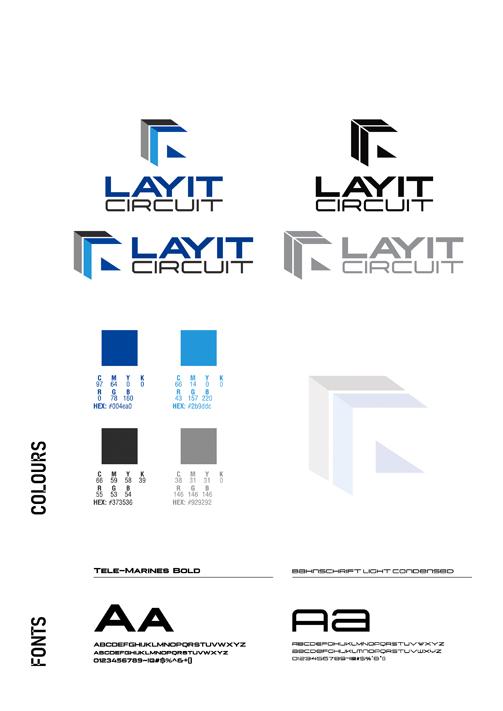 Brand Logo designing services. Business Card design - Layit Circuit, Santa Clara CA.
