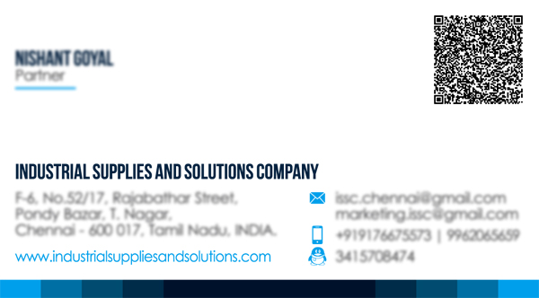 Business Card Desinging Service -Industrial Supplies And Solutions Company	T Nagar, Chennai