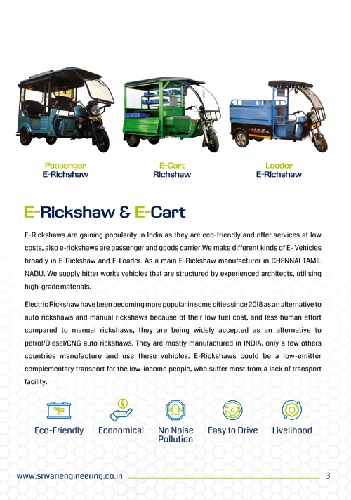 Brochure Designing Services - Sri Vari Engineering Kolathur, Chennai.