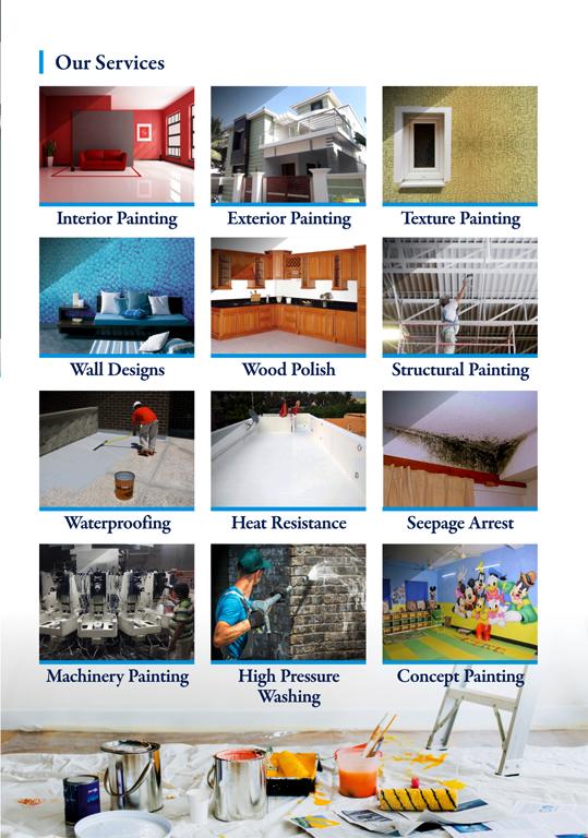 Brochure Designing services - Asian Painters, Choolaimedu, Chennai.
