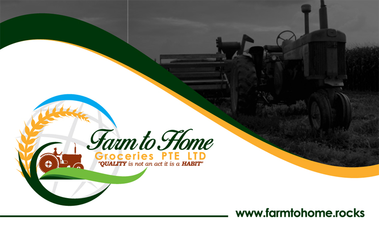 Logo Designing Services in Chennai - Business Card for Farm to Home Groceries Pte Ltd, Singapore.