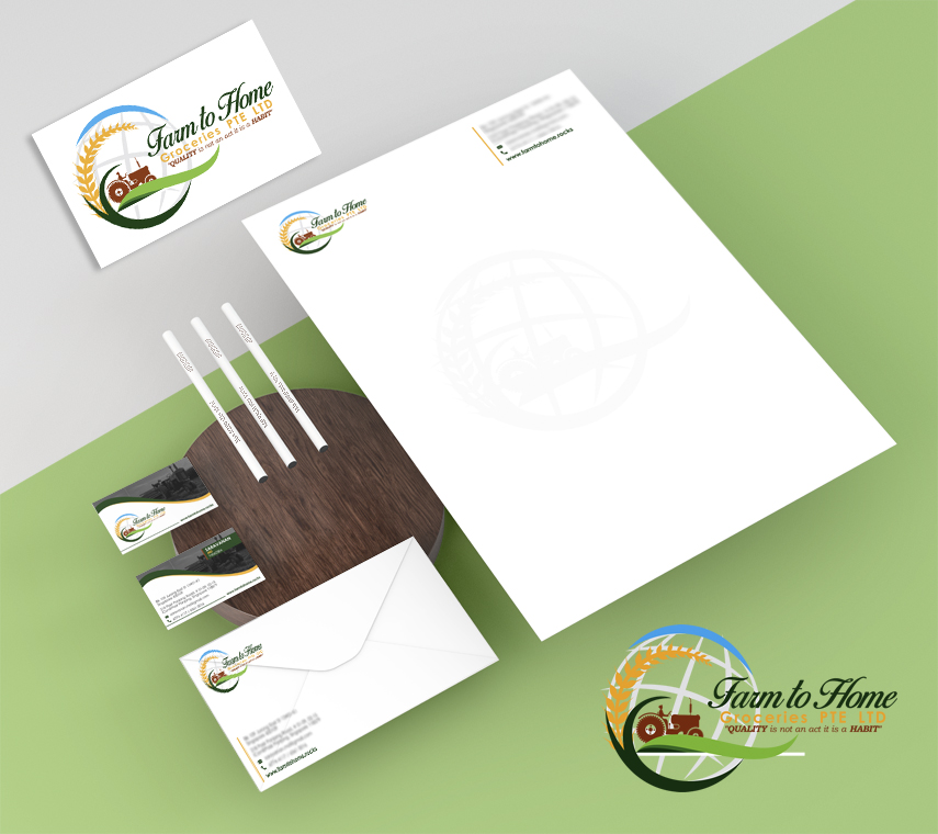 Logo Designing Services in Chennai - Home Groceries Pte Ltd, Singapore.
