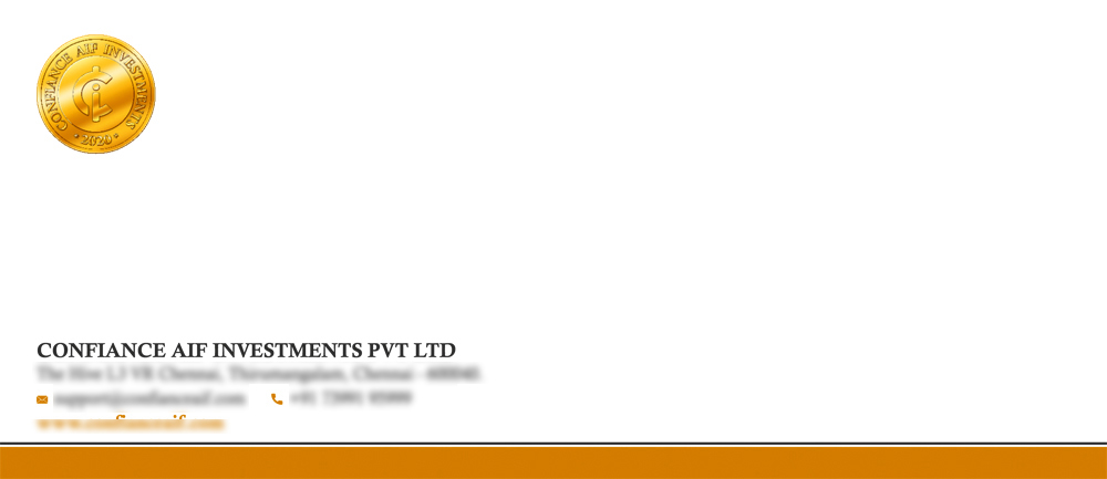 Branding Logo Designing Services -  Letter Cover, Confiance AIF Investments, Thirumangalam, Chennai.