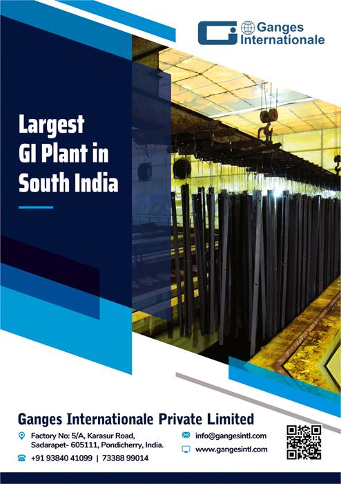 Brochure Designing Service to Ganges Internationale Private Limited, Sadarpet, Pondicherry.