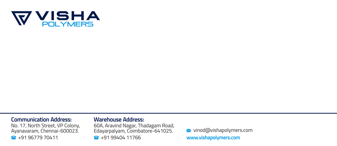 Brand Logo Designing Services - Letter Cover, Visha Polymers, Ayanavaram, Chennai.
