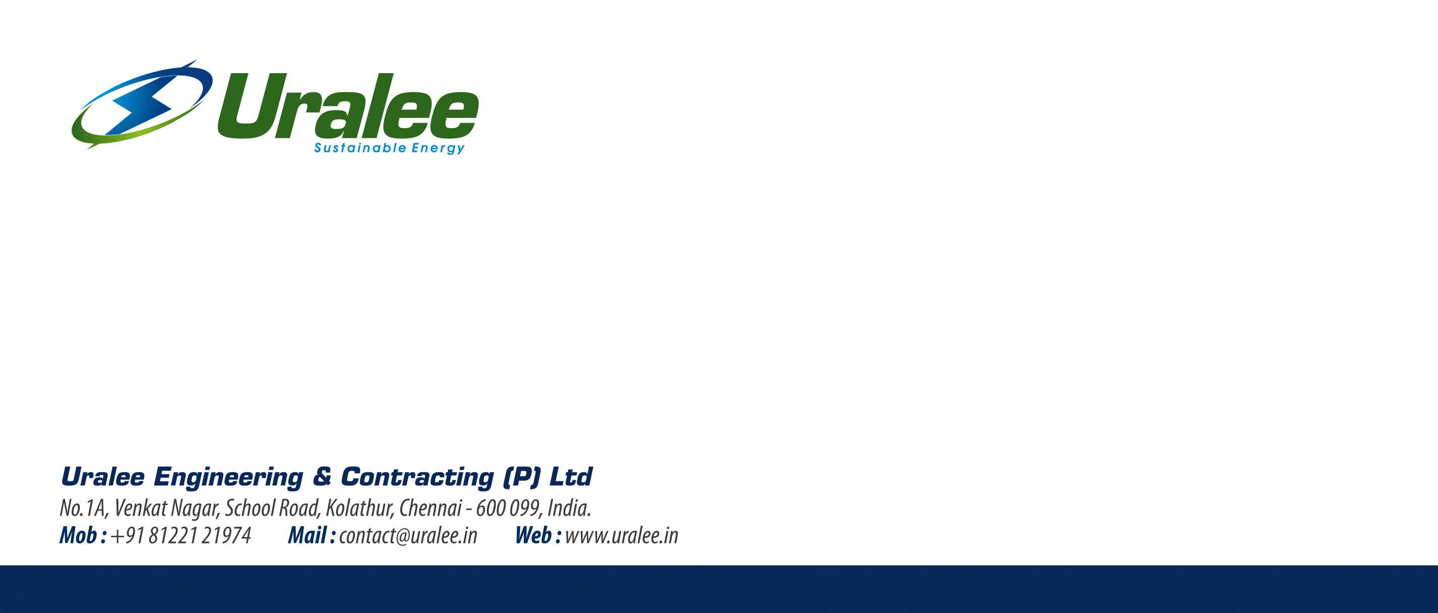 Letter Cover Designing Services - Uralee Engineering And Contracting (P) Ltd,Kolattur,Chennai.