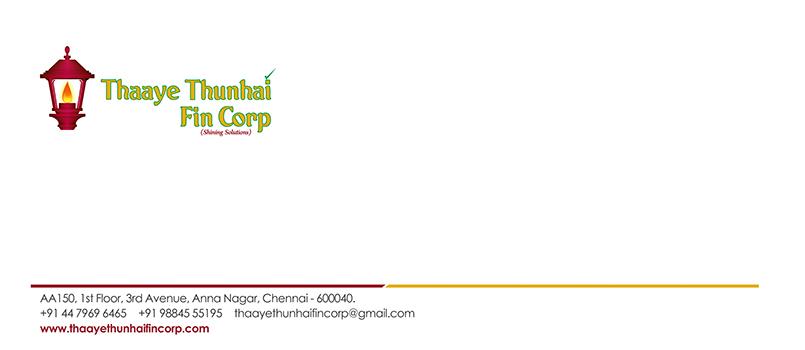 Letter Cover Designing Services - Thaaye Thunhai Fin Corp, Anna Nagar East, Chennai.